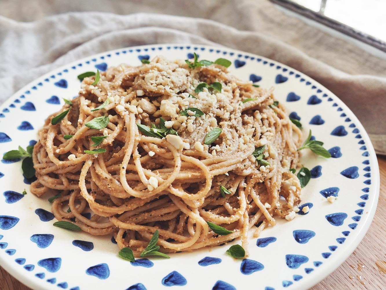 Spaghetti & pesto zbakłażana